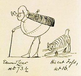 Edward_Lear_and_His_Cat_Foss_1885