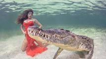 Focení s krokodýlem