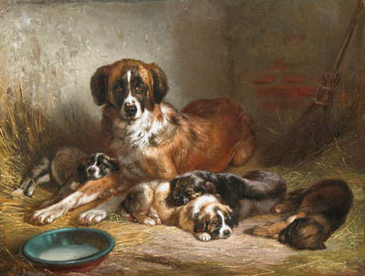 Adam,_Benno,_Bernese_Mountain_Dog_and_Her_Pups